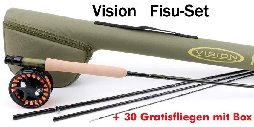 Fisu Fliegenfischer-Set mit 30 Gratisfliegen