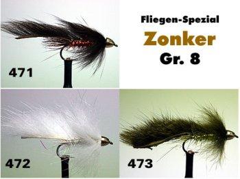 Cone Head Zonker Gr.8 (3 verschiedene Sorten zur Auswahl)