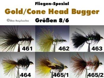 Gold/Cone Head Bugger Gr.6/8 (6 Sorten zur Auswahl)