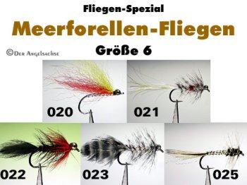 Meerforellen-Streamer Gr.6 (5 Sorten zur Auswahl)