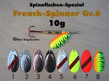 French-Spinner Gr.6 10g   (8 Farben zur Auswahl)
