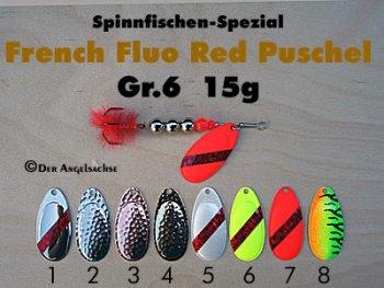 French Fluo Red Puschel Gr.6   15g (7 Farben zur Auswahl)