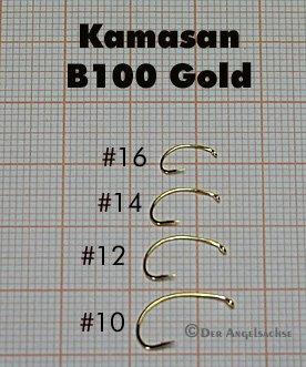 Kamasan B100 Gold Grub Fliegenhaken