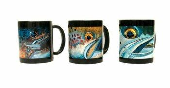 DeYoung Mug - Black (Brown Chubby, Atlantic Salmon oder Sea Trout zur Auswahl)