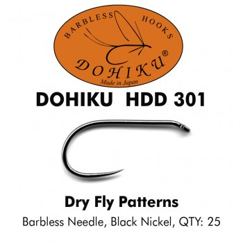 DOHIKU HDD 301 Trockenfliegenhaken