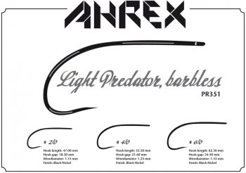 Ahrex  PR351 Light Predator Barbless  Fliegenhaken