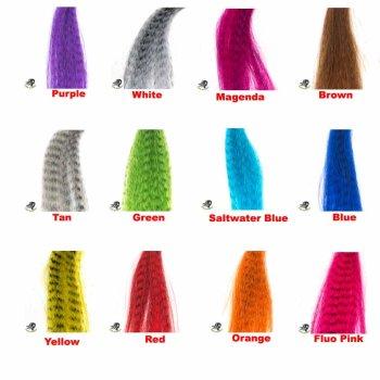 PIKE MONKEY Zebra Haar  Großpackung in 12 Farben