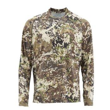 Simms SolarFlex Crewneck River Camo Shirt
