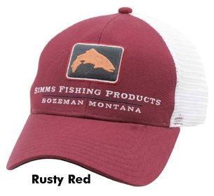 Simms Trout Icon Trucker Schirmmütze Rusty Red