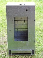 Räucherschrank mit Glastür