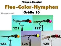 Fluo Color Nymphen Gr.10