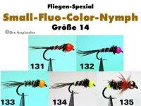 Fluo Color Nymphen Größe 14