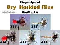 Dry Hackled Flies