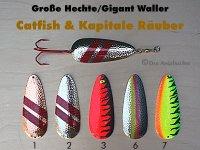 Catfish & Kapitale Räuber  70g  (5 Farb-Modelle zur Auswahl)