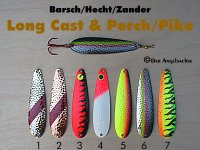 Long Cast & Perch/Pike (12,16,22g in je 7 Farben zur Auswahl)