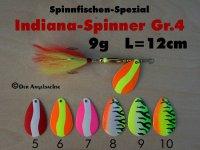 Indien-Bucktail-Spinner Gr.4  8.5g ( 6 Farben zur Auswahl)
