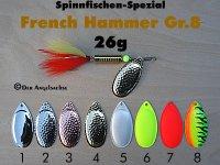 French-Hammer Gr.8  26g (8 Farben zur Auswahl)