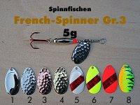 French-Spinner Gr.3  5g (8 Farben zur Auswahl)