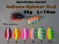 Indien-Bucktail-Spinner Gr.8  28g (6 Farben zur Auswahl)