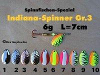 Indien-Spinner Gr.3  6g ( 10 Farben zur Auswahl)