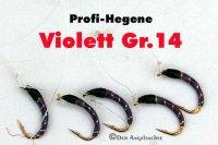 Profi-Hegene Violett auf Hakengröße 14