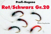 Profi-Plankton-Hegene Rot/Schwarz auf Hakengröße 20