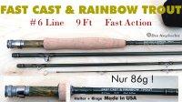 FAST CAST & RAINBOW TROUT  #6  9Ft(2.75m)  4-tlg.   86g!!!