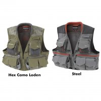 Simms Guide Vest Weste  Steel/Hex Camo Loden