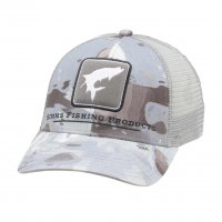 Simms Tarpon Icon Trucker Cloud Camo Grey Schirmmütze