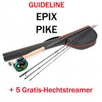 Guideline Epik Pike Kit  Das Hecht-Fliegenruten-Set + 5 Gratis-Hechtfliegen