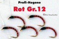 Profi-Hegene Rot/Schwarz auf Hakengröße 12