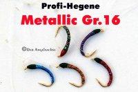 Profi-Hegene Rot/Schwarz auf Hakengröße 16