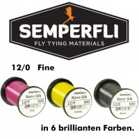 SEMPERFLI Nano Silk Fein 50D 12/0 Bindefaden