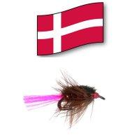 Nullerman Brown Double Hook Gr.10 -Orginal Dänische Lachs- und Meerforellen-Fliege-