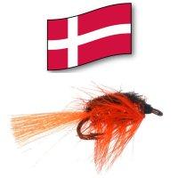 Nullerman Orange Double Hook Gr.10 Orginal Dänische Lachs- und Meerforellen-Fliege