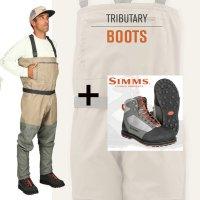 Simms Tributary Wat-Set Wathose + Tributary Watschuhe zum Vorteilspreis