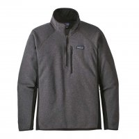 Patagonia Mens Performance Better Sweater 1/4-Zip Fleece  Forge Grey w/Black