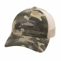 Simms Salmon Icon Trucker Schirmmütze  Hex Flo Camo Timber