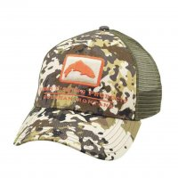 Simms Trout Icon Trucker Schirmmütze River Camo 2.0