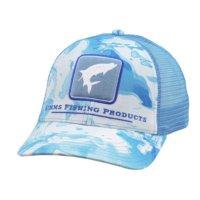 Simms Tarpon Icon Trucker Cloud Camo Blue Schirmmütze