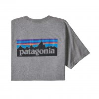 Patagonia Mens P-6 Logo Responsibili-Tee  T-Shirt Gravel Heather