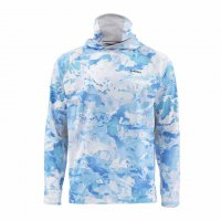 Simms SolarFlex UltraCool Armor Cloud Camo Blue Shirt