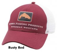 Simms Trout Icon Trucker Schirmmütze Rusty Red
