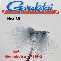 Gamakatsu Pattegrisen Grey #2 Meerforellenfliege