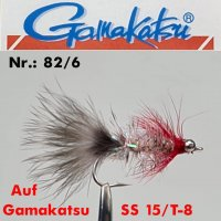 Gamakatsu Red Magnus #8 Meerforellenfliege