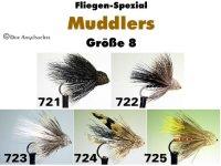 Muddler Gr.8 (5 verschiedene Muster zur Auswahl)